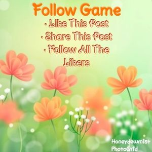 My first follow game!